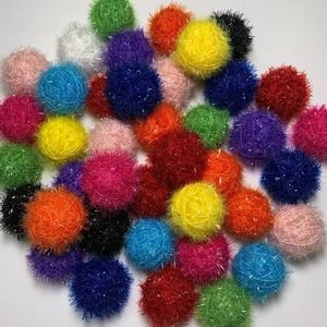 cat toys interactive balls rattle sparkly 10pc